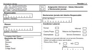 Formulario de Inscripción para Asignación Universal por Hijo