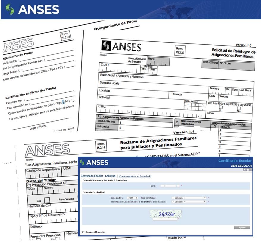 formularios de ANSES