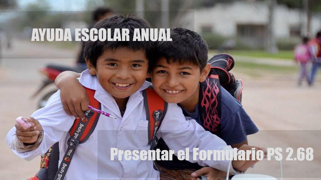 Presentar el Formulario PS 2.68 para cobrar la Ayuda Escolar Anual