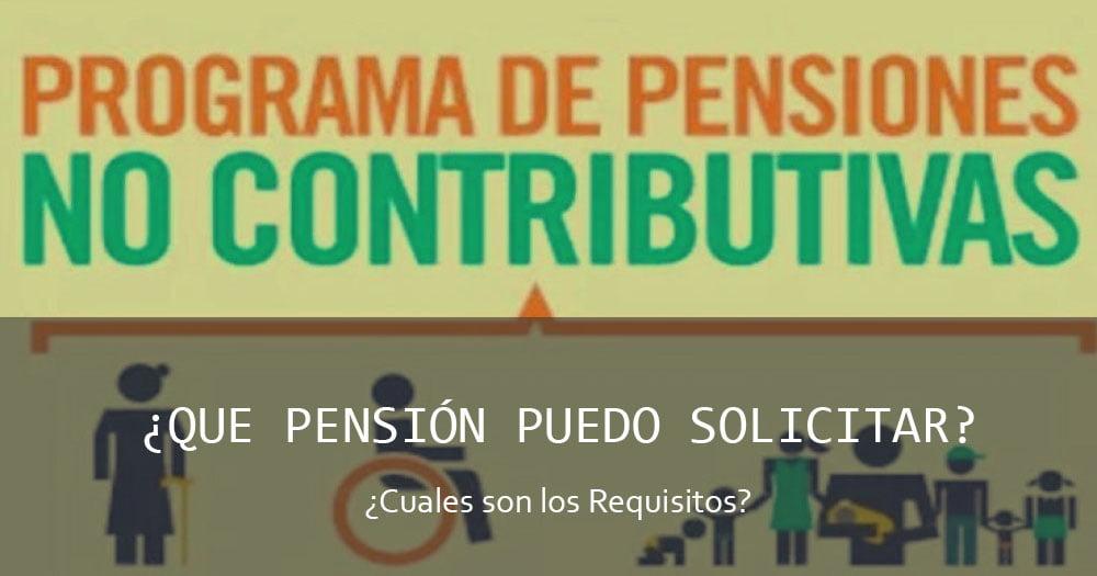 Tramitar Pensión no Contributiva
