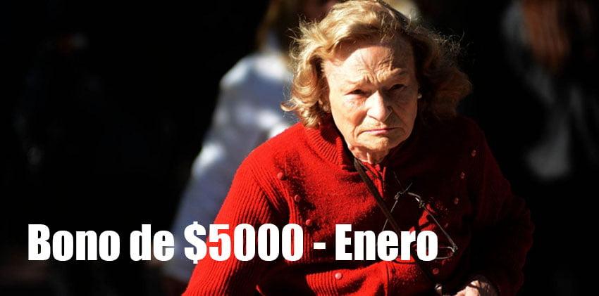 Fecha de cobro Bono de $5000 en Enero
