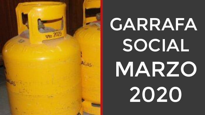 Garrafa social Marzo 2020