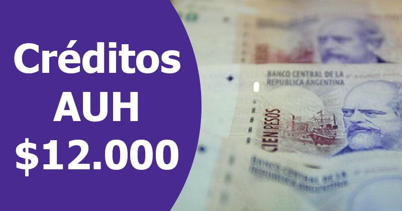 Créditos AUH $12.000