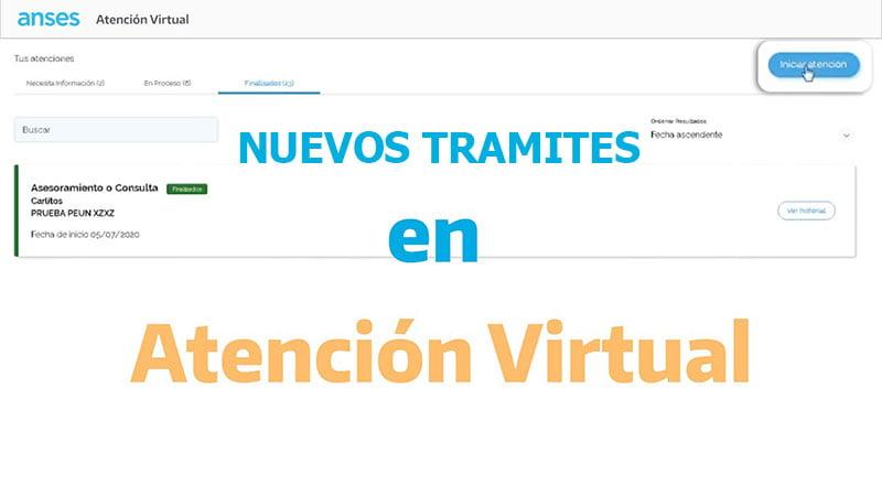 Tramites en Atención Virtual ANSES
