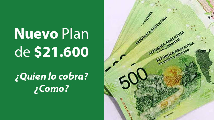nuevo plan de $21.600