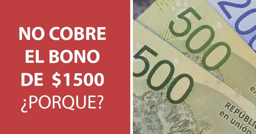 Bono de 1500 pesos