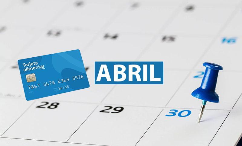 Tarjeta Alimentar Abril